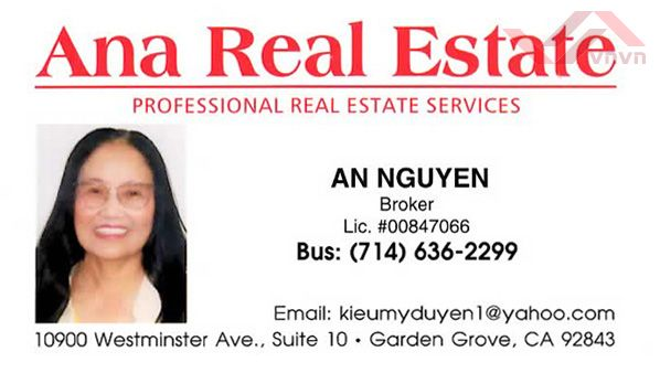 Ana Real Estate - An Nguyen