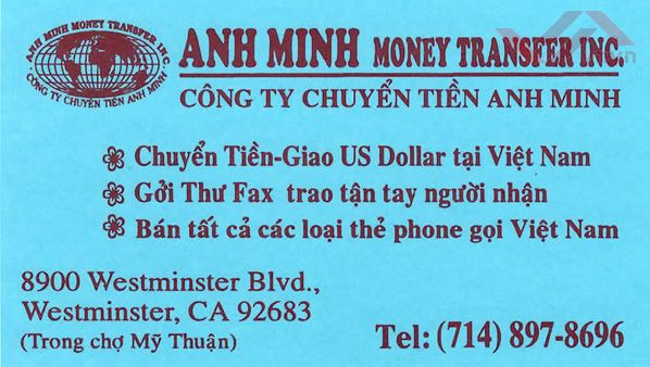 Anh Minh Money Transfer Inc