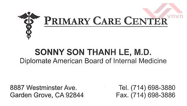 Sonny Son Thanh Le, MD