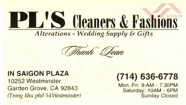 PL's Cleaners & Fashions