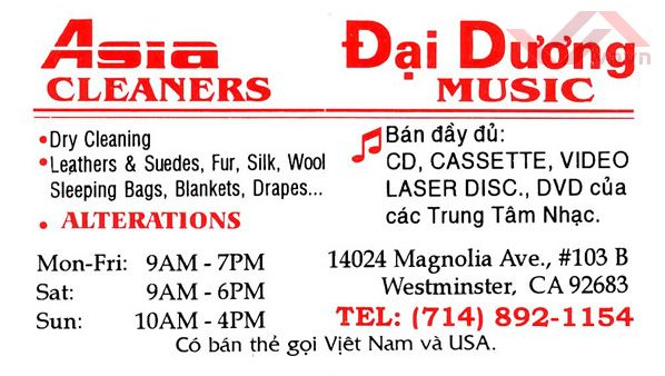 Asia Cleaners - Dai Duong music