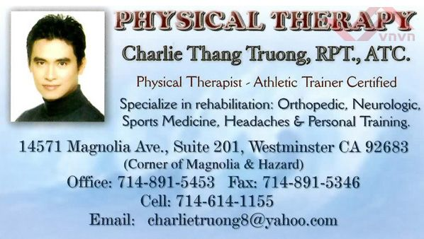Physical Therapy - Charlie Thang Truong