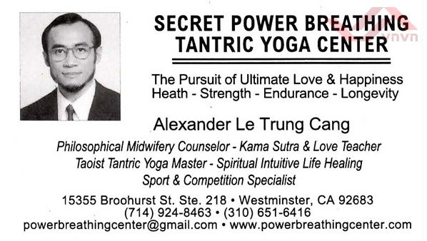 Tantric Yoga Center - Alexander Le Trung Cang
