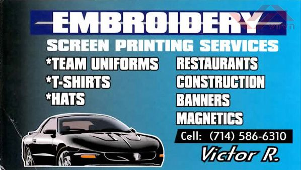 Embroidery Screen Printing Services