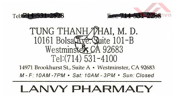 Lanvy Pharmacy - Tung Thanh Thai, MD
