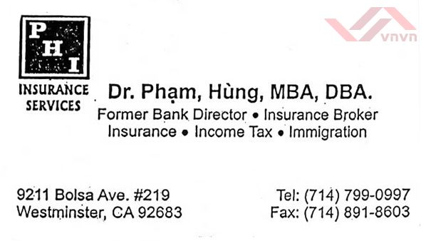 PHI Insurance Services - Pham Hung