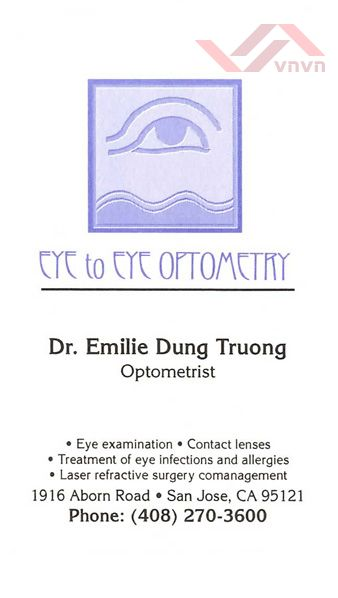 Eye To Eye Optometry - Dr. Emilie Dung Truong, OD