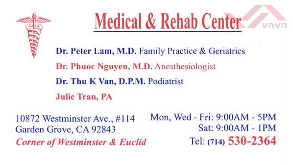 Medical & Rehab Center - Peter Lam, MD