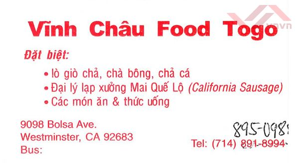 Vinh Chau Food to go
