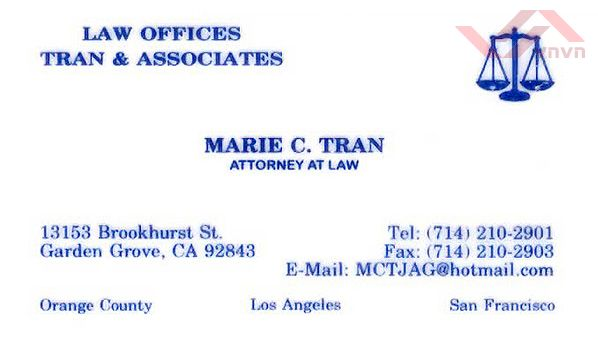 Law Offices  of Tran & Associates - Marie C tran