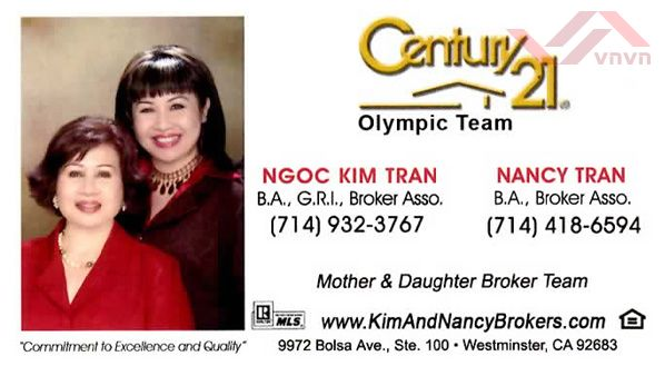 Century 21 Olympic Team - Ngoc Kim Tran & Nancy Tran