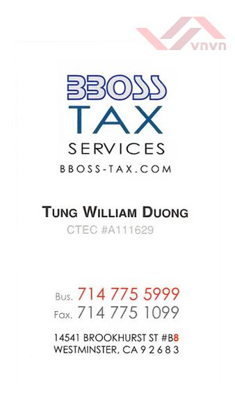 BBoss Tax Services - Tung William Duong