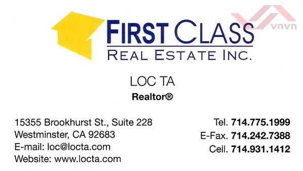 First Class Real Estate - Loc Ta