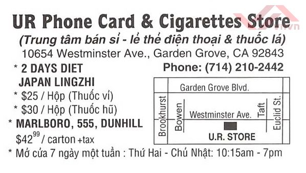 UR Phone Card & Cigarettes Store